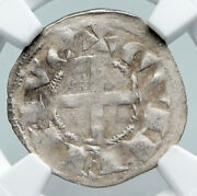 1207 Ad France Feudal Lordship Of Dandeacuteols Medieval Silver Denier Ngc Coin I91315