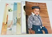 Lot 6 Dale Of Norway Knitting Pattern Books For Baby And Children's Clothing Etc