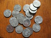 Lot Of 20 1943-p And S Lincoln Wheat Penny Zinc Coated Steel Cents G-au