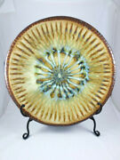 Large Richie Watts Good Earth Signed Art Pottery 18 Charger Plate Platter Usa
