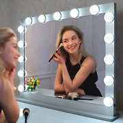 Beautme Big Vanity Mirror With Lightshollywood Lighted Mirror With 15 Dimmer Or