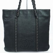 Authentic Chain Shoulder Silver Fittings Luxury Women And039s Tote Bag No.8063