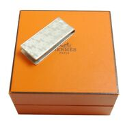 Authentic Hermes Money Clip Wallet Sterling Silver 2981