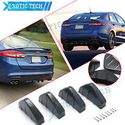 4 Pcs For Ford Mustang Fusion Diffuse Carbon Fiber Pattern Rear Bumper Lower Lip