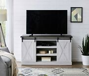 Rustic Farmhouse Sliding Barn Door Tv Stand Console Table Storage For Up To 62