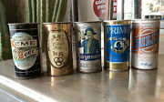 Vintage Antique Beer Can Lot Acme Primo Burgermeister Ballantine Billy 5 Cans