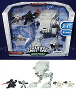 New At-st Assault - Star Wars Galactic Heroes - Vehicle And 4 Figures Darth Vader