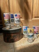 Set Of 6 Pittsburgh Press Bicentennial Collection Glasses