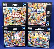 4 New White Mountain 1000 Pc Jigsaw Puzzles New Millennium 1990's 1980's 1970's
