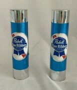 Two Vintage Pbr Pabst Blue Ribbon Beer Tap Handles