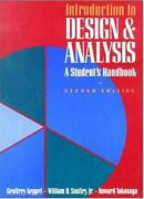 Keppel Geoffrey-intro To Design And Analysis 2/e Book New