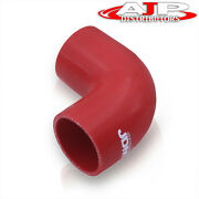 Jdm Universal 2 Silicone Tube 90 Degree Curve Elbow Bend Coupler Turbo Pipe Red