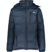 Trespass Waterproof Padded Jacket With Removable Hood - Navy - M - £86
