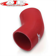 Universal 2.75 Silicone Tube 45 Degree Curve Elbow Bend Coupler Turbo Pipe Red