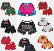 Chicago Bulls Vintage Basketball Game Shorts Menand039s Nwt Stitched Pants S-3xl