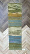 New Authentic Tufenkian Hand Knotted In Wool 3andrsquo X 10andrsquo Rug - Tides Meadowbrook