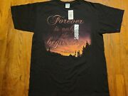 Twilight Breaking Dawn Part 1 2011 Movie Promo T-shirt Large New Forever 2-sided