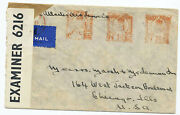 Great Britain 1941 Red Meter Censor Cover Insurance Broker London To Illinois Us