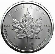 2 Pcs Canada 2021 5 Pure Silver 1oz Maple Leafs .9999 Coins Free Cnd Shipping