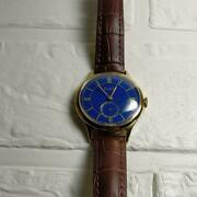 Piaget 1940 Antique Small Second Dark Blue Dial 18kgp Manual Winding Watch