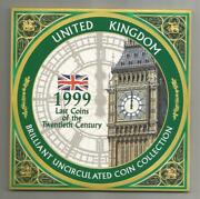1999 Great Britain / Northern Ireland Uk - Official Mint Set 8 W/ Rugby Andpound2