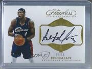 2016-17 Panini Flawless Excellence Signatures Gold /10 Ben Wallace Ex-bwa Auto