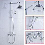 Bronze Shower Faucet System Set 8and039and039 Rainfall Shower Head With Handheld Mixer Tap