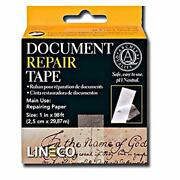 Archival Document Repair Tape 1inch X 98 Feet Strong Thin Acid Free Tissue New