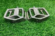 Used Shimano Dx Pedals 9/16 Old School Bmx 3 Piece Crank Haro Gt