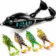 Topwater Frog Lure, Bass/trout Fishing Lures Kit Set Realistic Prop Frog Soft
