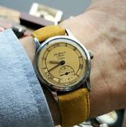 V Collectible And Original 1952 Jw Benson Tropical Gents Watch Full Working Order
