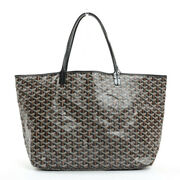 Secondhand Item Goyard Saint-louis Gm Tote Bag Coated Canvas Black No.6179
