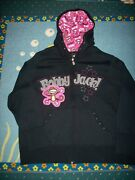 Bobby Jack Hoodie Womens Plus 26-28 Monkey Black Life Is A Party Star New