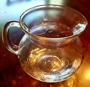 Vintage Clear Glass Water Pitcher Kool Aid Style - No Smiley Face