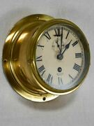 Antique English Brass Clock From A Boat - Smith Astral 8¼