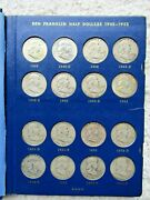 1948 - 1963 Franklin Half Dollar Set Nice Coin's About Half Uncirculated