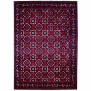8'2x11'3 Hand Knotted Red Afghan Khamyab Extremely Durable Wool Rug R67701