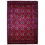 8'4x11'4 Soft Wool Red Afghan Khamyab Natural Dyes Hand Knotted Rug R67703