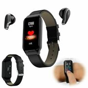 Bluetooth Headset Bracelet Heart Rate Monitor Handsfree Call For Android Iphone