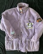 1990and039s Anaheim Mighty Ducks Nhl Hockey Winter Coat Jacket Western Conference