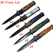 Wholesale Lot 20 Pieces 9 Italian Stiletto Spring Open Assisted Folding Knife