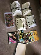 4 Vintage 2 1978 And 2 1986 Hasbro Lite Brite Lot With Pegs And Refills Working