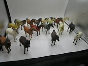 Vintage Rare Mixed Lot Of Breyer 1970s 18 Horse Lot