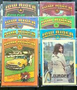 Lowrider Magazine 1979 May-nov. 7 Issues Plus 1977 First Issue Reprint. Rare