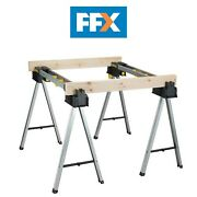 Stanley Sts175763 Fatmax Aluminium Sawhorse Trestles Twin Pack 900kg Rated Saw