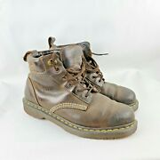 Dr. Martens Saxon Leather Boots Brown Menand039s Size 8m Eu 41 12117 Aw004 China