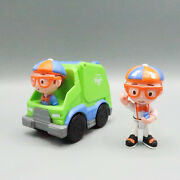Lot Of 2 Blippi Figure By Jazwares And Truck Recycling Garbage Racer