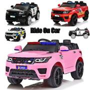 12v Kids Ride On Truck Car W/ Remote Control Led Lights Fire Fighter Police