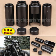 Motorcycle Black Upper/lower Fork Boot Covers Tube Cap For Harley Breakout Usa