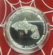 2021 Republic Of Chad 1 Ounce Silver Celtic Animals - Salmon Only 5000 Minted